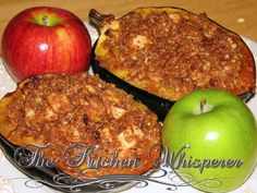 Delicious, but takes longer to bake than suggested. Apple Streusel Stuffed Acorn Squash