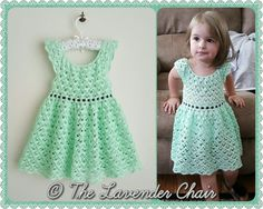 Gemstone Lace Dress - Crochet Pattern - The Lavender Chair
