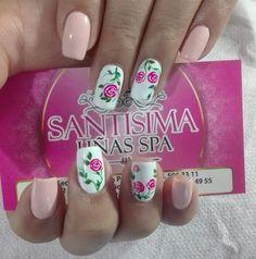 Manicure Y Pedicure, Beauty Secrets, Nail Care, Cute Nails, Nail Art Designs, Hair Beauty, Veronica, Diana, Roses