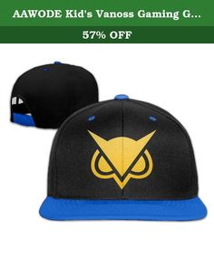 AAWODE Kid's Vanoss Gaming Golden Owl Adjustable Snapback Hip-hop Baseball Cap RoyalBlue. Fashion Design,suitable For All Kinds Of Outdoor Activities.The Front Panel Is Customizable To Any Additional Printing Designs For Your Desired Look.