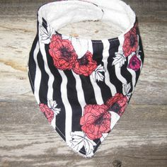 Virtical Stripes with Flowers by BabyBoBoutiqueCo on Etsy