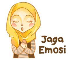 gambar kartun muslimah memakai topi gaul  Muslim anime