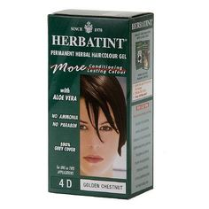 Herbatint Permanent Herbal Haircolor Gel, 4d-Golden Chestnut 4.5 oz (135 ml) *** See this great product.