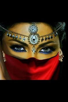 Arabian style of beauty