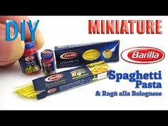 DIY Miniature Barilla Spaghetti Pasta and Bolognese Sauce - YouTube