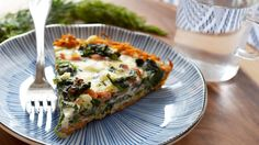 This American Heart Association, Simple Cooking with Heart, French quiche recipe slashes calories and fat with egg whites, fat-free cheese, turkey bacon and skim milk. Heart Healthy Recipes, Healthy Snacks, Healthy Eating, Healthy Cooking, Healthy Recepies, Healthy Breakfasts, Skinny Recipes, Healthy Options, Healthy Life