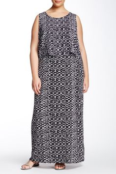 Tropical Etching Maxi Dress (Plus Size) by Vince Camuto on @nordstrom_rack