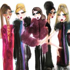 U.S. #Vogue September 2015 Advertisement for Bellevue Collection #fashion #fashionillustration #illustration