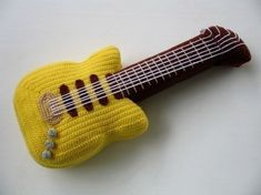 Crochet Pattern - ELECTRIC GUITAR- Toys - PDF  (00447)