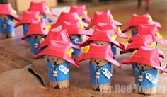 Adorable Padding Bear Goodie Bag Set – make your own TP Roll Paddington Bear, perfect for that Paddington Bear Party! Craft Projects For Kids, Craft Activities For Kids, Paddington Bear Party, Picnic Birthday, Bear Crafts, Toilet Paper Roll Crafts, Crafty Kids, Goodie Bags, First Birthdays