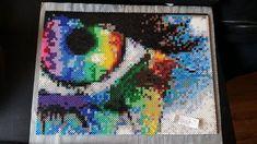 Eye perler bead art by cazzhi