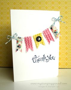 Washi tape card......... It would be cute for a birthday card too!