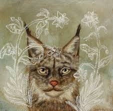 lynx and squirrel american painting - Google Search