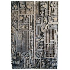 Monumental Pair of Wall Sculptures after Louise Nevelson