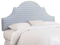 Hedren Headboard, Navy Dots - Headboards - Bedroom - Furniture | One Kings Lane