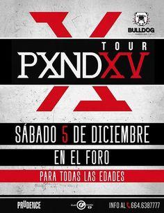 PXNDX en Tijuana! En El Foro Antiguo Palacio Jai Alai - Oficial  info http://tjev.mx/1eurCIz  #Eventos #Conciertos