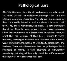 Co parenting with a pathological liar