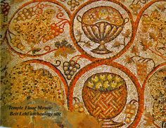 Mosaic floors Byzantine Era Chapel at Beit Lehi