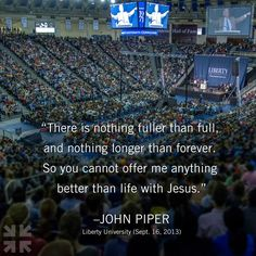John Piper Liberty University convocation My school Faith Quotes, Wisdom Quotes, John Piper Quotes, Great Quotes, Inspirational Quotes, 5 Solas, Liberty University, Reformed Theology, Sisters In Christ