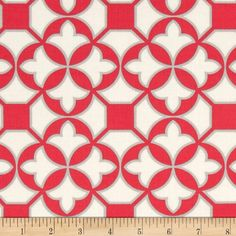 Joel Dewberry Flora Trellis Poppy from @fabricdotcom  Designed by Joel Dewberry for Free Spirit, this cotton print is perfect for quilting, apparel and home decor accents. Colors include cream, grey and pink.