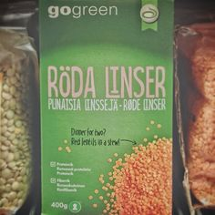 Swedish red lentils packaging