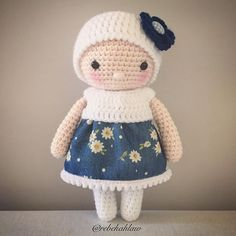 Turns out I'm not much of a sewer...I spent way too long on this skirt! #crochet #crochetdoll #handmade #madebyme #madewithlove #amigurumi #wasmeanttobeadress
