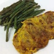 Mustard-Rubbed Sirloin Tip Steak and Roasted Green Beans