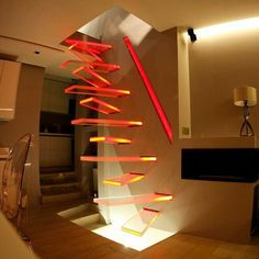 I love these weird stairs! Imagine trying to walk down these stairs half asleep! Oh goodness! Ohohoho Person of the last comentary, imagine being half asleep AND drunk, trying to walk up and down the stairs Escalier Design, Interior And Exterior, Interior Design, Interior Stairs, Stairway To Heaven, Staircase Design, Stair Design, Staircase Ideas, Modern Staircase