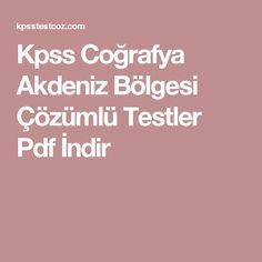 Kpss Coğrafya Akdeniz Bölgesi Çözümlü Testler Pdf İndir