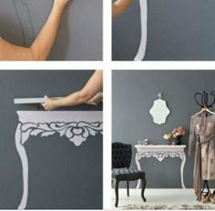 "Painted ""shelf"""