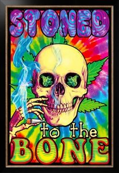 Stoned To The Bone Blacklight Poster Photo at AllPosters.com