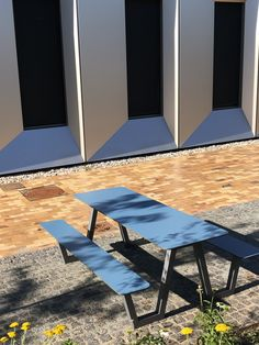 PICNIC is a highly weather-resistant and durable piece of furniture for public and semi public space like a school, university, medical center or shopping mall. Available in many different colours. We also offer a lower model for kids. Also available as a wheelchair friendly model.  #miramondo #picnic #publicspace #streetfurniture #publicfurniture #outdoorfurniture #schoolfurniture #school #university #shoppingmall #furniture #picnictable #citydesign #landscapearchitecture #landarch Cheap Furniture Online, Furniture Deals, Discount Furniture, School Furniture, Street Furniture, Shop Signage, Shop Layout, Outdoor Furniture, Outdoor Decor