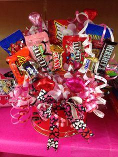 Valentine Tin Candy bouquet