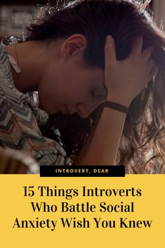 Many introverts struggle with social anxiety on a daily basis. Here's what they wish you knew.#introvert#introversion#introvertlife #introvertproblems#anxiety#socialanxiety