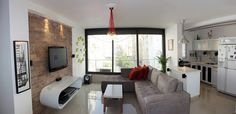 Renovated apartment in Tel Aviv, Israel #livingroom