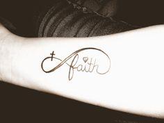 Cute Faith, Infinty with heart and cross tattoo!!