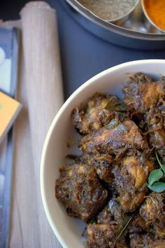 Chicken pieces cooked and roasted with pepper and spices. It is a perfect preparation to serve to your guests along with rice or chapati (Indian bread). Never replace whole black pepper with pepper powder in this recipe. Veg Recipes, Curry Recipes, Slow Cooker Recipes, Indian Food Recipes, Cooking Recipes, Starter Recipes, Healthy Recipes, Kerala Chicken Recipes, Indian Cuisine