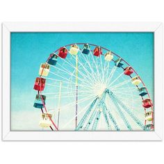 Americanflat Jersey Ferris Framed Wall Art (€59) ❤ liked on Polyvore featuring home, home decor, wall art, white, framed wall art, white wall art, white home decor, horizontal wall art and white framed wall art