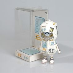 [ ROBOT ] Paper toy of Boogiehood by boogun chung, via Behance