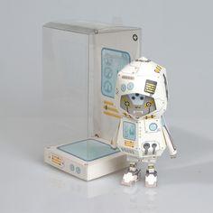 [ ROBOT ] Paper toy of Boogiehood by boogun chung, via Behance