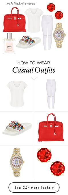 """""""Casual Cinderella"""" by melaninfeminist on Polyvore featuring philosophy, Neiman Marcus, Rolex and Hermès"""