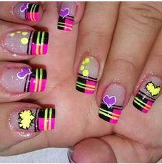 Ruby Nails, Wow Nails, French Manicure Nails, Natural Acrylic Nails, Acrylic Nails At Home, Pretty Nail Designs, Nail Art Designs, Flare Nails, Shellac Nail Designs