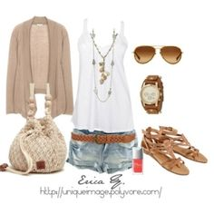 summer clothes- very cute but with a lot more material for the shorts! lol