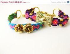 SALE Friendship Bracelets Set Christmasinjuly Soul Sisters by Savi, $24.64