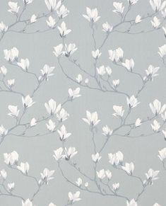 Magnolia Grove Slate Grey Wallpaper neutral background, wallpaper, floral wallpaper, spring wallpaper, background, floral background, feminine background, grey background