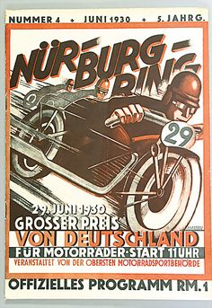 1930 Grand Prix of Germany for Motorbikes - Nürburgring - Program