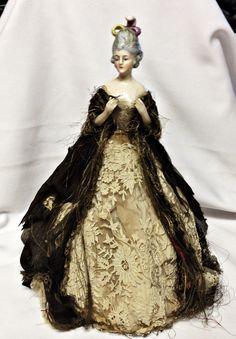 Antique German Dressel Kister Porcelain Figurine Half Doll Hands Away | eBay