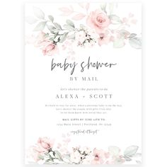 Floral Shower by Mail Invitation | Forever Your Prints