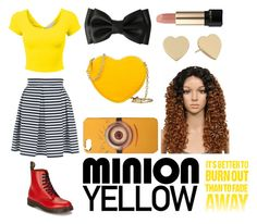 """Featuring: Minion Yellow"" by iibear32 ❤ liked on Polyvore"