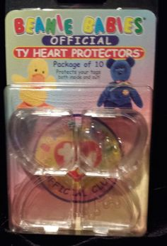 TY Beanie Babies Heart Tag Protectors Pack Of 10 Official Authentic New NIP #Ty